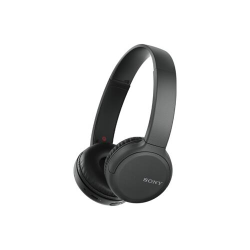 Sony - Wireless On-ear Headphones with Microphone - Black