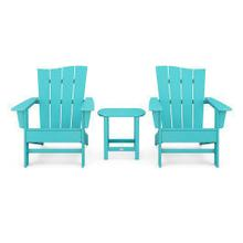 View Product - Wave 3-Piece Adirondack Chair Set in Vintage Aruba