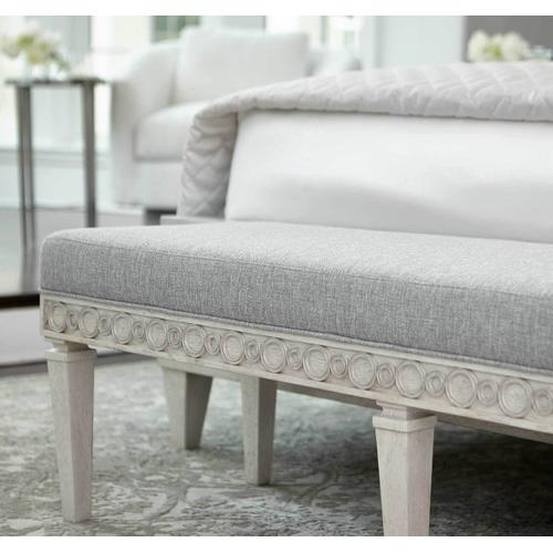 Allure Bench in Manor White (399)