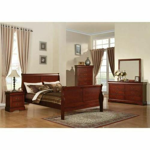 ACME Louis Philippe III Eastern King Bed - 19517EK - Cherry