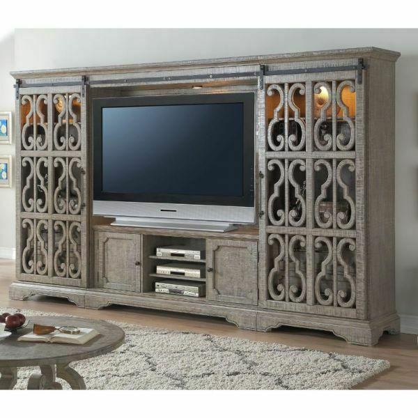 ACME Artesia Entertainment Center Set - 91760 - Salvaged Natural