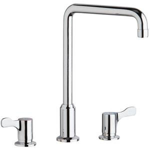 "Elkay 8"" Centerset Concealed Deck Mount Faucet with Arc Tube Spout and 2-5/8"" Lever Handles Chrome Product Image"