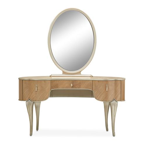 Amini - Vanity/desk W/mirror 2pc