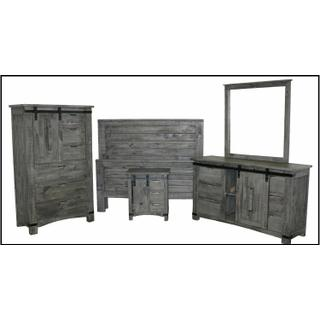 See Details - Straight Ranch Bed W/ Barn Door Case Goods