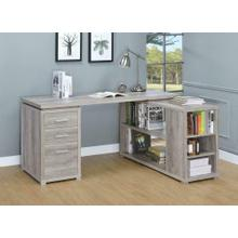 Yvette Grey Driftwood L-shaped Office Desk