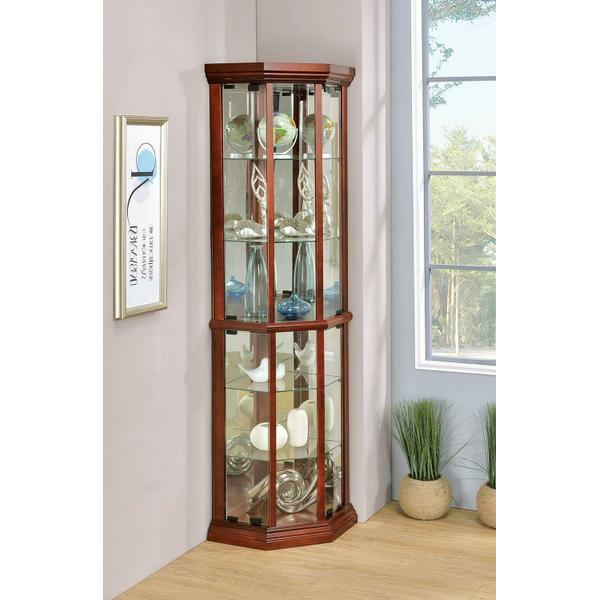 See Details - Traditional Medium Brown Curio Cabinet
