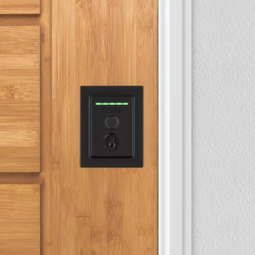 Kwikset - Halo Touch Contemporary Fingerprint Wi-Fi Enabled Smart Lock - Matte Black