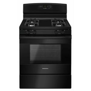 Amana30-inch Gas Range with Self-Clean Option - Black