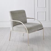 See Details - Swoop Chair-Grey Velvet-Nickel
