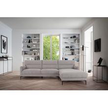 View Product - Divani Casa Paraiso - Modern Grey Fabric Right Facing Sectional Sofa