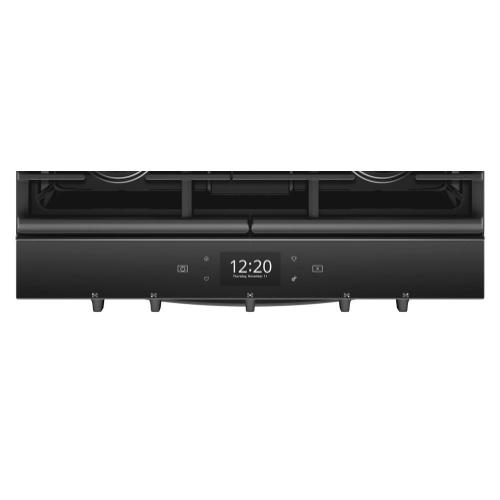Product Image - 5.8 cu. ft. Smart Slide-in Gas Range with EZ-2-Lift Hinged Cast-Iron Grates