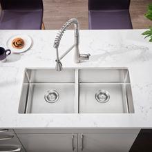 See Details - Pekoe 35x18 Double-Bowl Stainless Steel Sink  American Standard - Stainless Steel