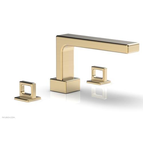 MIX Deck Tub Set - Ring Handles 290-42 - Satin Brass