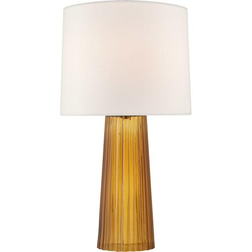 Barbara Barry Danube 29 inch 100 watt Amber Table Lamp Portable Light, Medium