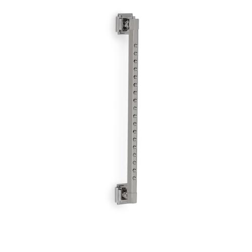 Brushed Nickel Hexagon Rain Bar with Nozzles and Nouveau Flange