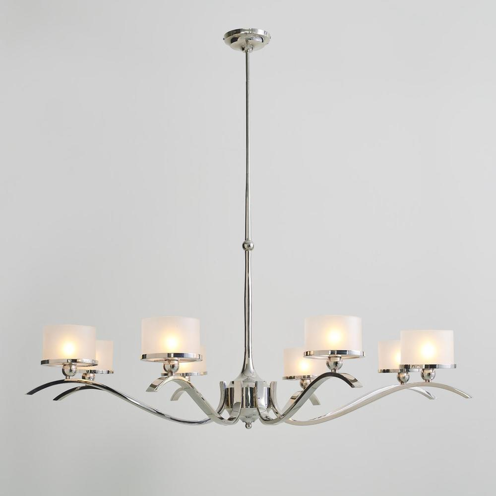 See Details - French Curve Chandelier-Nickel