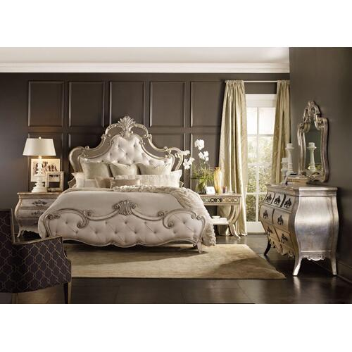 Bedroom Sanctuary King and California King Upholstered Footboard