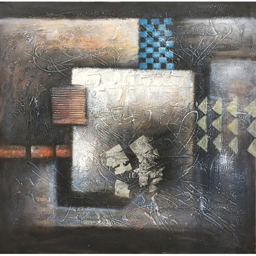 """Gallery - Modrest 39"""" x 39"""" Abstract Oil Painting"""