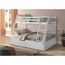 Miller Twin over Full Bunkbed with Storage Drawers, White