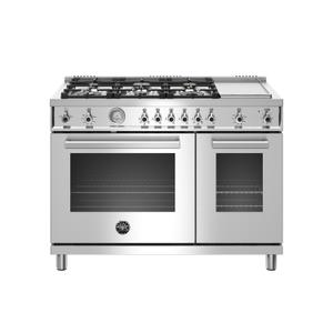 48 inch All-Gas Range 6 Brass Burner and Griddle Stainless Steel Product Image