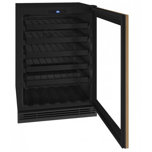 "U-Line - Hwc124 24"" Wine Refrigerator With Integrated Frame Finish (115v/60 Hz Volts /60 Hz Hz)"