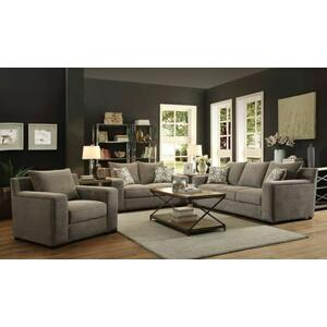 Acme Furniture Inc - ACME Ushury Sofa w/2 Pillows - 52190 - Gray Chenille
