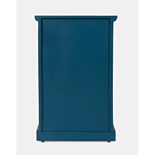 Decker Cabinet Accent Table- Blue