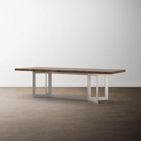"""MODERN with Bench*Made 90"""" Astor Live Edge Table"""