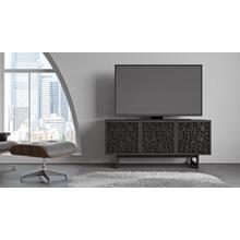 View Product - Elements 8777 Media Media Cabinet in Ricochet Doors Charcoal Stained Ash