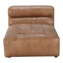 Ramsay Leather Chaise Tan