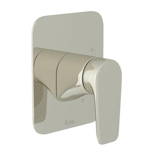 Hoxton Pressure Balance Trim without Diverter - Polished Nickel with Metal Lever Handle