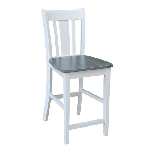 San Remo Stool in White Grey