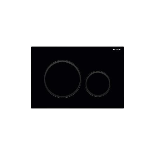 Sigma20 Dual-flush plates for Sigma series in-wall toilet systems Gloss black with matte black accent NEW! Finish
