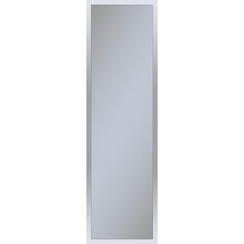 """Profiles 11-1/4"""" X 39-3/8"""" X 4"""" Framed Cabinet In Chrome With Electrical Outlet, Usb Charging Ports, Magnetic Storage Strip and Left Hinge"""