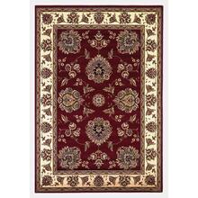 "Cambridge 7340 Red /ivory Floral Mahal 5'3"" X 7'7"""