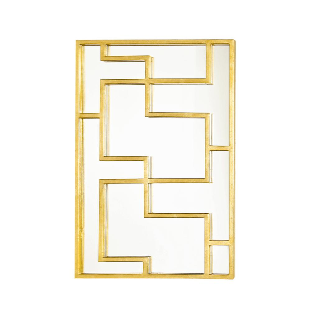 Rectangular Oriental Mirror Panel Gold Leaf