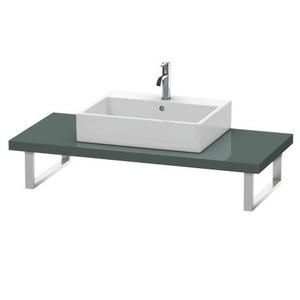 Console For Above-counter Basin And Vanity Basin, Dolomiti Gray High Gloss (lacquer)