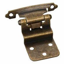"""See Details - Traditional 3/8"""" Inset Hinge with Semi-Concealed Frame Wing - Antique Brass"""