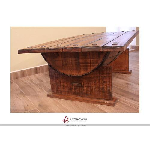 Red Hot Buy ! Cocktail Table w/wood Barrel shape