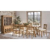 Telluride Trestle Table W/(4) Stools, Bench