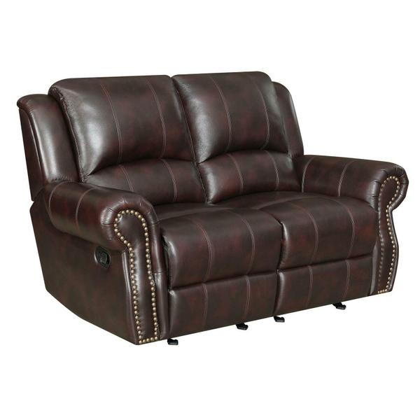 See Details - Sir Rawlinson Tobacco Leather Reclining Loveseat