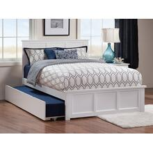 Madison Full Bed with Matching Foot Board with Urban Trundle Bed in White