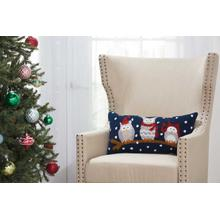 "Home for the Holiday Yx092 Multicolor 12"" X 24"" Throw Pillow"