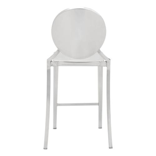 Zuo Modern - Eclipse Counter Chair Stainless Steel