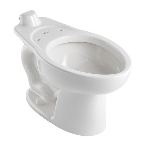 Madera 1.1-1.6 gpf Back Spud Elongated Bowl with Slotted Rim and EverClean  American Standard - White