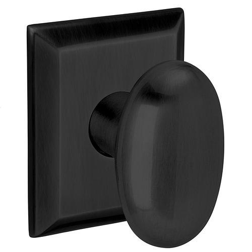 Baldwin - Satin Black 5024 Oval Knob