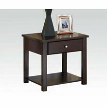 ACME Malden End Table - 80258 - Espresso