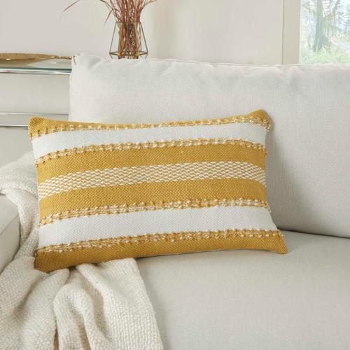 """Outdoor Pillows Vj088 Yellow 14"""" X 22"""" Throw Pillow"""