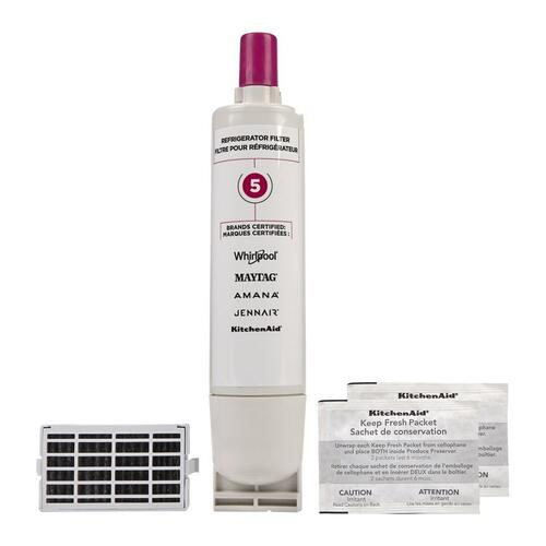Maytag - Everydrop® Refrigerator Water Filter 5 - EDR5RXD1 (Pack Of 1) + Refrigerator FreshFlow™ Air Filter + FreshFlow Produce Preserver Refill