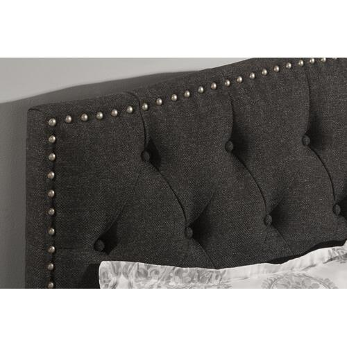 Lila Queen Bed - Onyx Linen